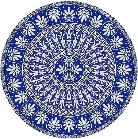 ZCXBB Toalla Redonda de Playa Toalla Boho Tapiz Redondo Algodón Playa Círculo Redondo Picnic Alfombra Estera de Yoga (Color : Blue, Size : XL): Amazon.es: Hogar