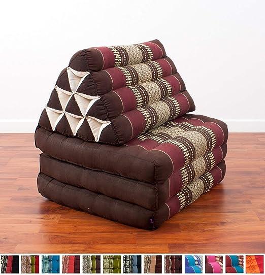 Amazon.com: foldout Triángulo Cojín de Thai, 67 x 21 x 3 ...