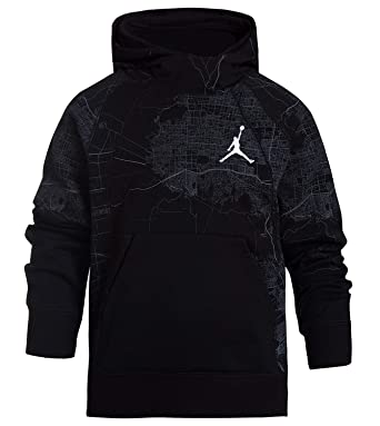 043a1e00ca5387 Amazon.com  Jordan Nike Jumpman Boys  Wings City of Flight Pullover Hoodie  (Black