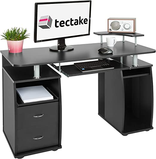 TecTake 402037 Mesa de Ordenador de Escritorio Estudiante PC ...
