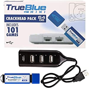 Petforu True Blue Mini Pack for Playstation Classic (Crackhead Pack 64GB)