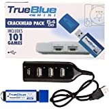 Petforu True Blue Mini Pack for Playstation Classic (Crackhead Pack 64GB) Plug and Play