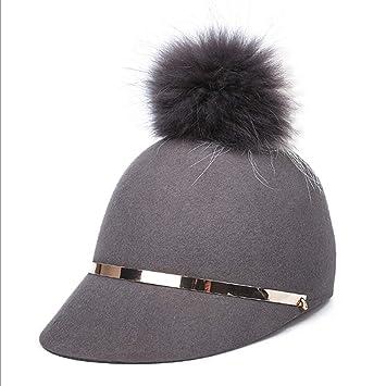 GHC Gorras y Sombreros Sombrero de Invierno otoño Nueva Hembra Sombrero de Copa Estereotipo Sombrero de
