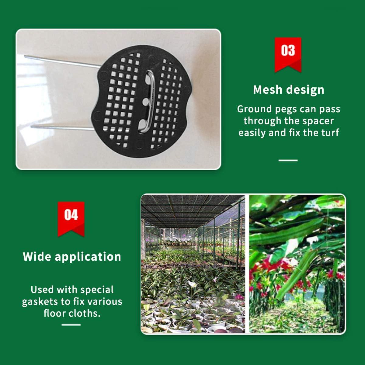 malla c/ésped artificial Buffer de malla arandelas para Weed membrana Aufisi 60 U clavijas de pl/ástico arandelas reutilizables Mats PP-materiales tela de jard/ín