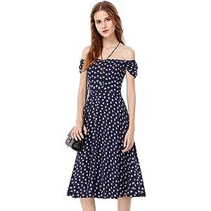 3c120dd4fee Alisa Pan Womens Adjustable Cross Back Long Summer Dress 4 US Multi ...