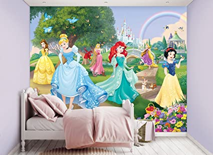 amazon com walltastic disney princess wall mural 2 44m x 3 05m rh amazon com disney princess wall mural tesco disney princess wall mural made to measure