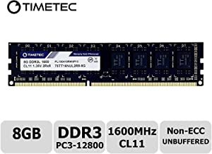 Timetec Hynix IC 8GB DDR3L 1600MHz PC3L-12800 Non ECC Unbuffered 1.35V/1.5V CL11 2Rx8 Dual Rank 240 Pin UDIMM Desktop PC Computer Memory Ram Module Upgrade (8GB)