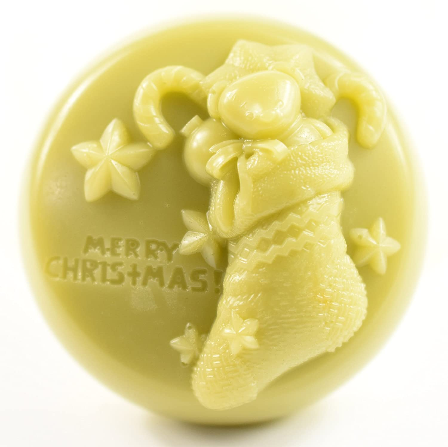 Longzang S528 Christmas bells Silicone Soap Mold 3D Handmade Craft Mould