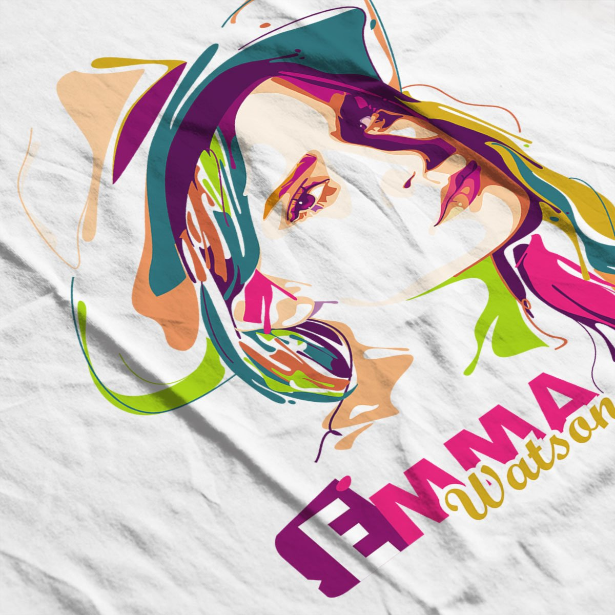 Coto7 Geometric Celebrity Emma Watson Kids Sweatshirt