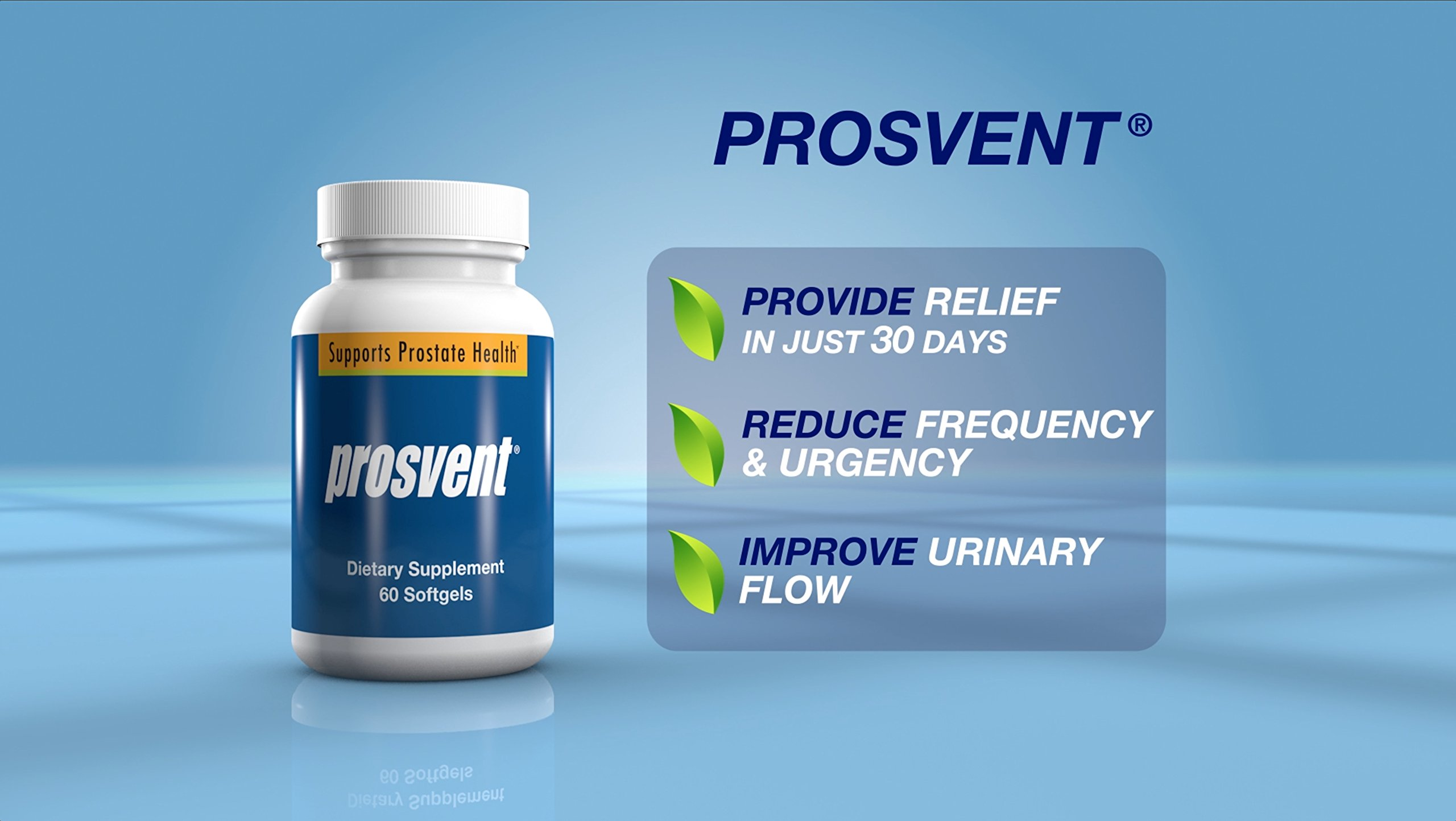 PROSVENT-NATURAL PROSTATE HEALTH SUPPLEMENT -Clinically Tested Ingredients- Reduce Urgency & Frequency. Improve Flow, Sleep, Health & Quality Of Life. OVER 180 MILLION DOSES SOLD! –3 Month Supply by Prosvent (Image #6)