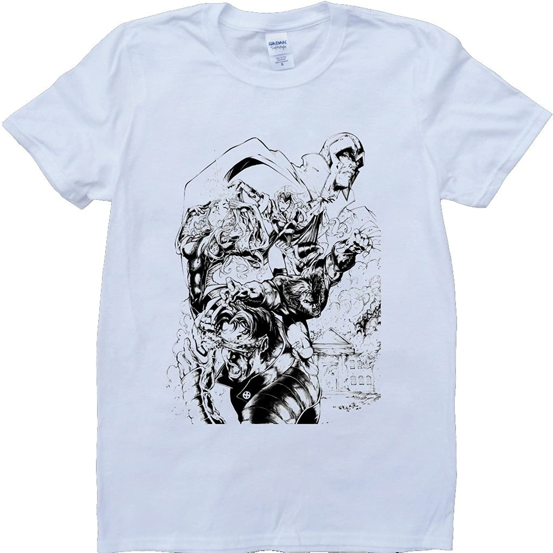 X Men Short Sleeve Crew Neck Custom Made T-Shirt
