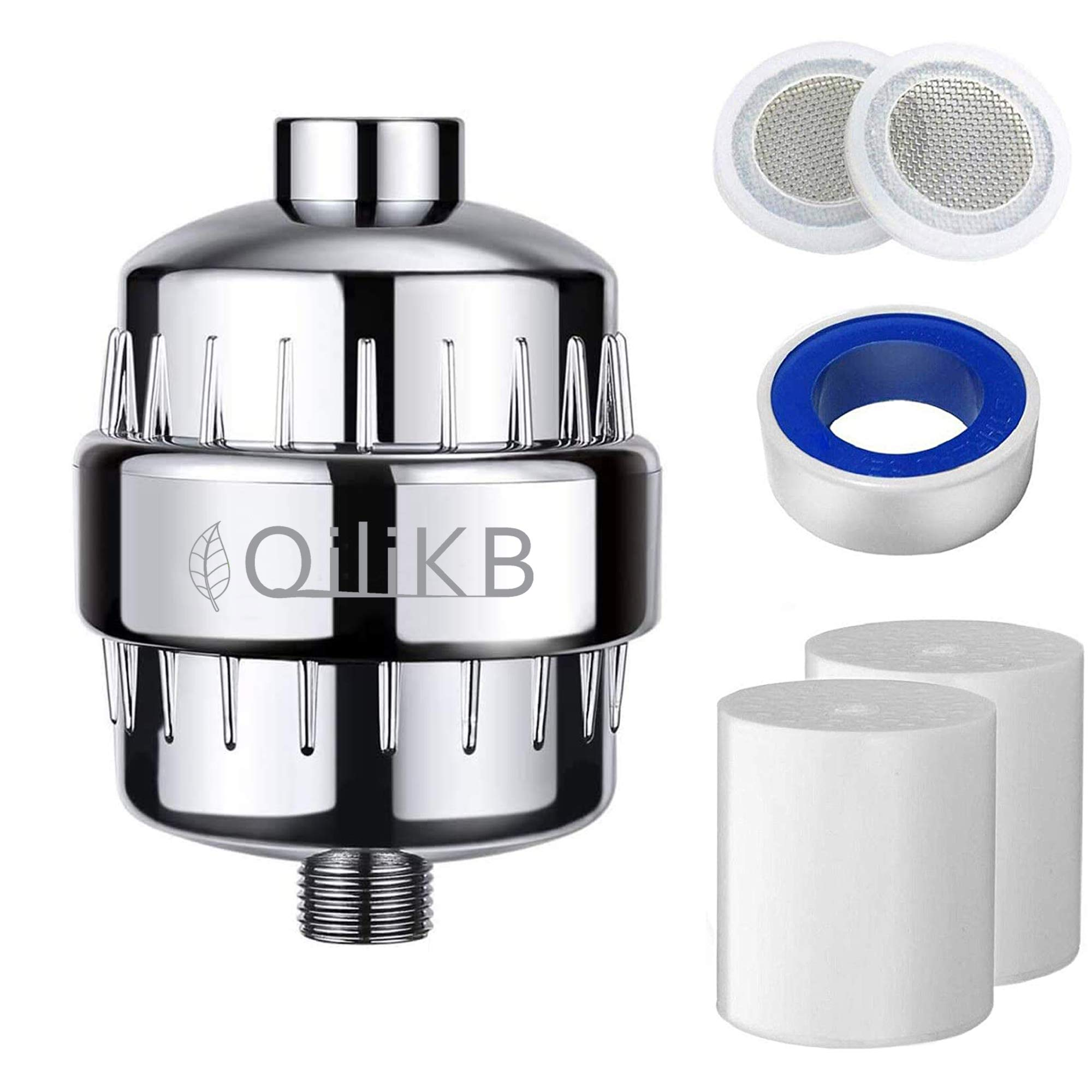 QiliKB 15 Stage Shower Filter for Hard Water – High Output Shower