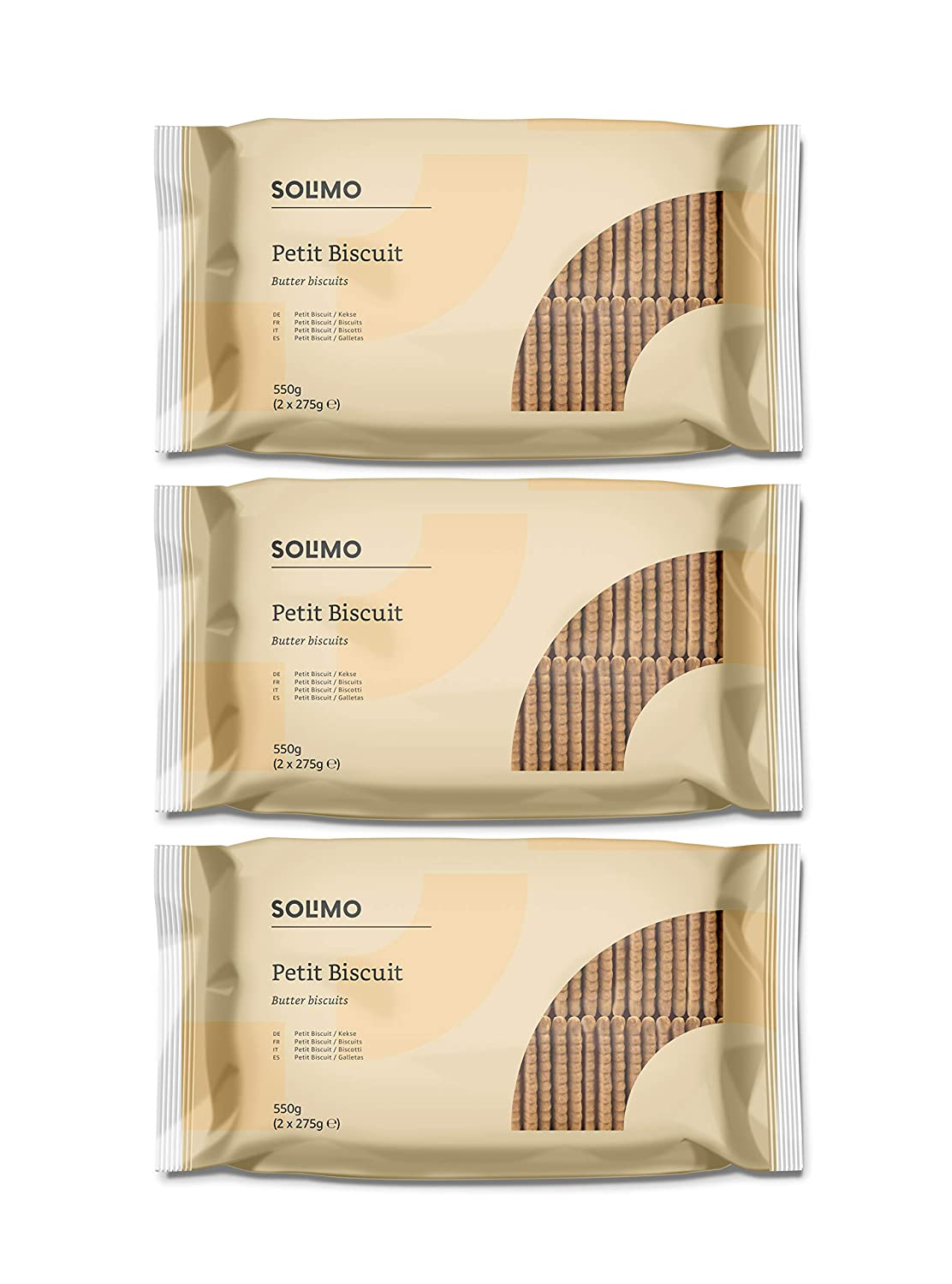 Marca Amazon- Solimo - Galletas Petit Biscuits - 3 packs de 550g: Amazon.es: Alimentación y bebidas