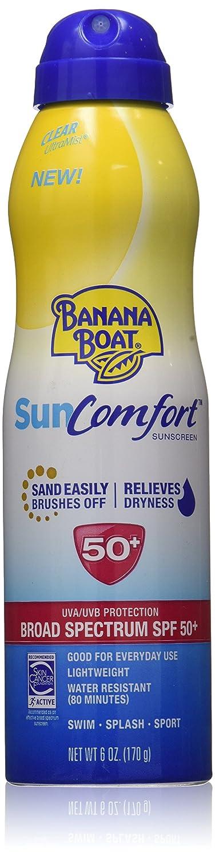 Banana Boat SunComfort Sunscreen Clear Spray, SPF50+, Travel Size (51g)