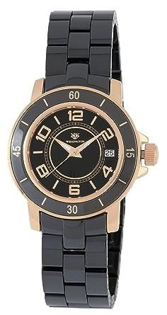 Wellington WN106-322 - Reloj de mujer de cuarzo, correa de cerámica color negro: Amazon.es: Relojes
