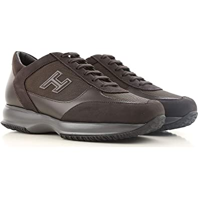 Hogan Interactive Sneakers HXM00N0I980E1I41LR Marrone Uomo 5  Amazon ... efae562034d