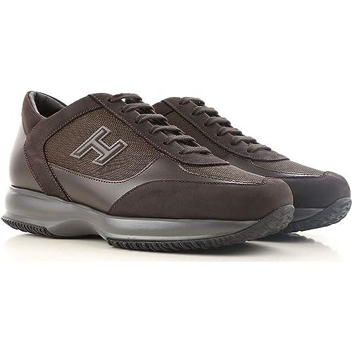 e4963483b6 Hogan Interactive Sneakers HXM00N0I980E1I41LR Marrone Uomo 5œ ...
