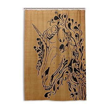 Amazon.com: ALAZA Shower Curtain Chic Unicorn Skull Baby Tub Shower ...
