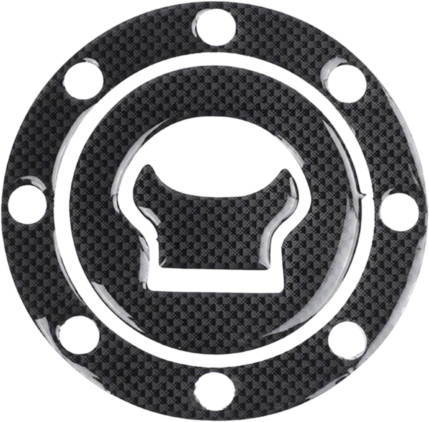 Semoic Nouvel Autocollant de Couverture en Forme de Carbone Carburant//gaz Cap Couverture Pad Autocollant pour GSXR 600 750 1300 SV 1000 GSFT 1200 Bandit Noir