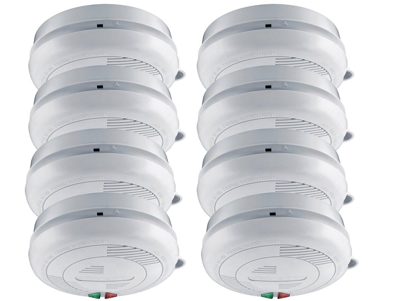 Juego de 8 de acordes/koppelbare Detector de humo con conexión de 230 V + Seguridad batería: Amazon.es: Bricolaje y herramientas