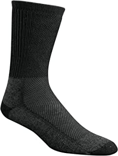 product image for Wigwam Cool Lite Hiker F6067 Crew Sock, Black/Charcoal - Large