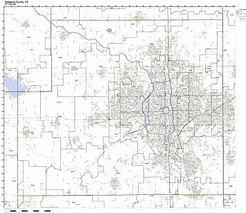 Amazon Com Sedgwick County Kansas Ks Zip Code Map Not Laminated