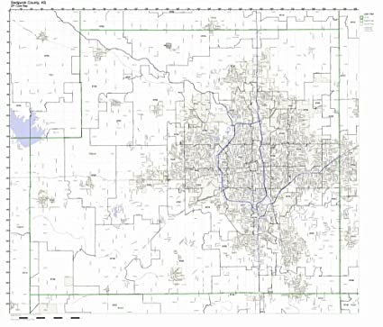 Amazon.com: Sedgwick County, Kansas KS ZIP Code Map Not Laminated ...