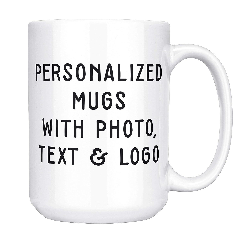 Customizable Mug 15 Oz Coffee Mug Personalized Add Photo Logo Or Text To Custom Mugs Ceramic Tazas Personalizadas Monogram Novelty Mug Great