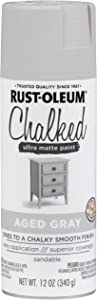 Rust-Oleum 302592 Chalked Spray Paint, 12 oz, Aged Gray/Gray