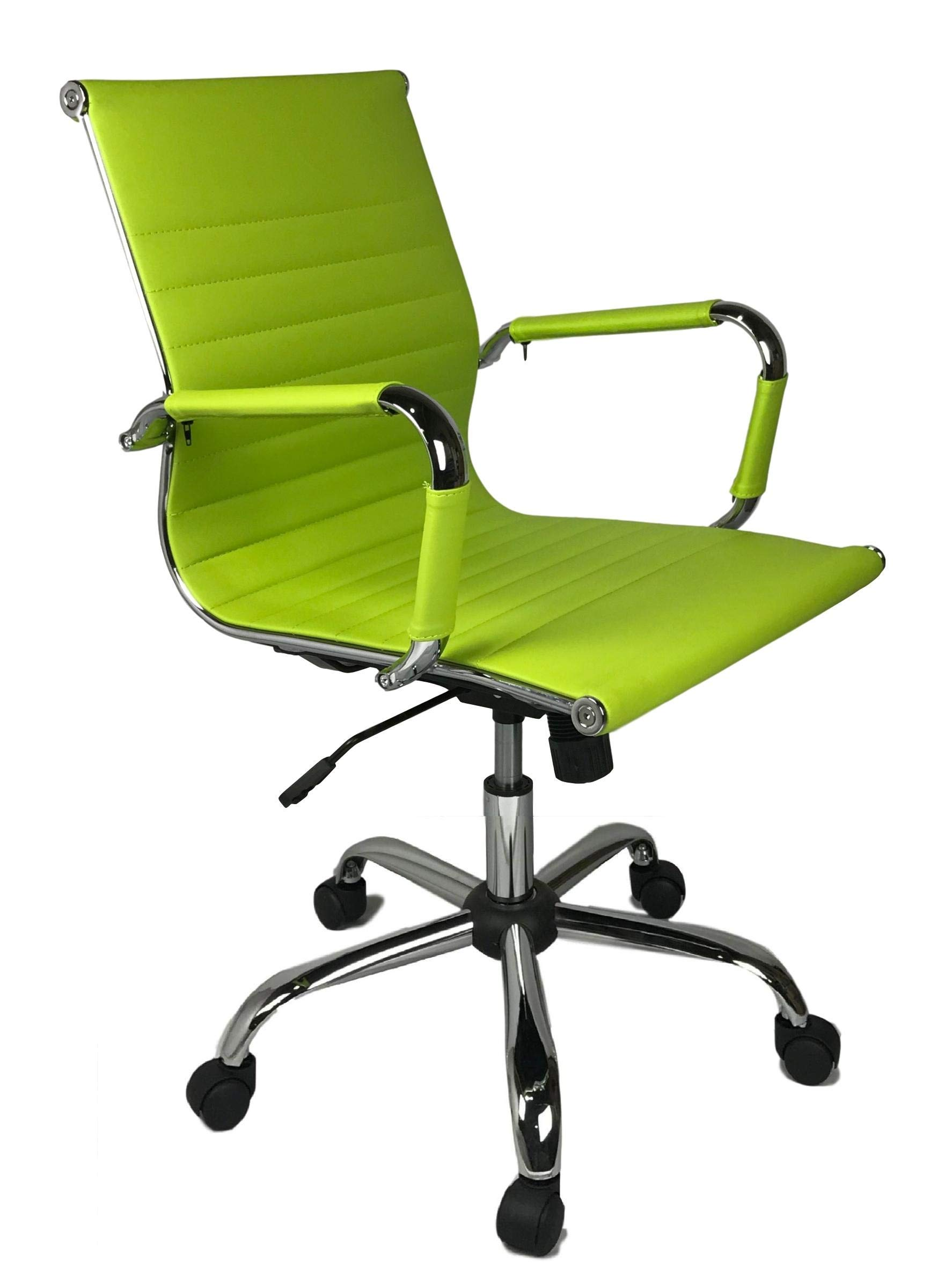 Lime Green Designer Computer Contemporary Reception Meeting Office Chair
