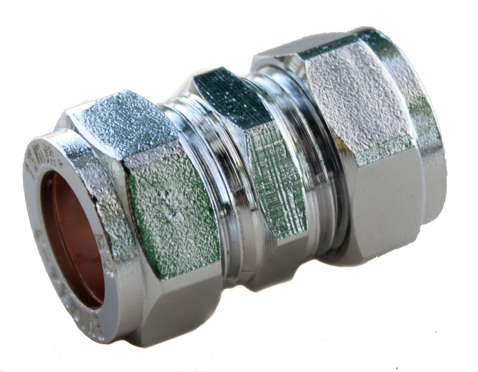 Plumb-Pak PFC01 15mm Chrome Plated Compression Straight Coupler by Plumb Pak by Plumb-Pak (Image #1)