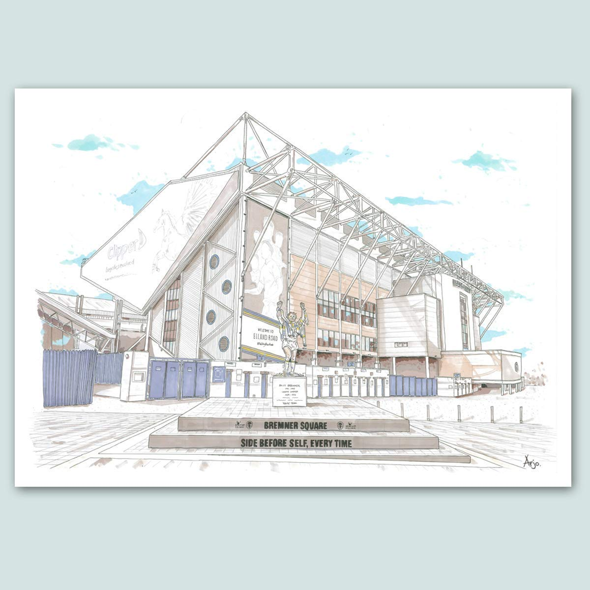 Amazon Com Leeds United Elland Road Stadium Limited Edition Print Handmade
