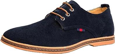 DADAWEN Chaussures de Ville Homme Oxfords /à Lacets Derbies Chaussure
