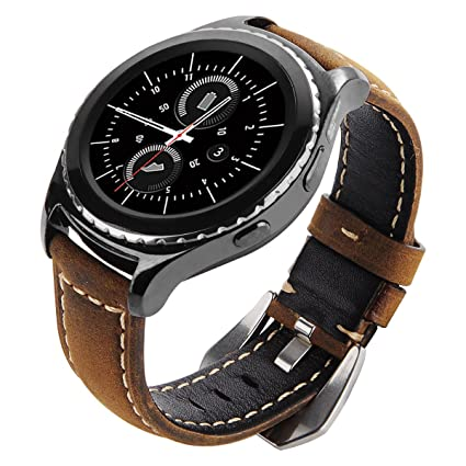 Galaxy Watch 42mm Band, Gear S2 Classic Bands, Gear Sport Band, Maxjoy 20mm Leather Replacement Strap for Galaxy Watch 42mm/Samsung Gear S2 Classic ...