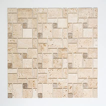 Mosaik Carrelage adhésif Travertin Naturstein beige ...