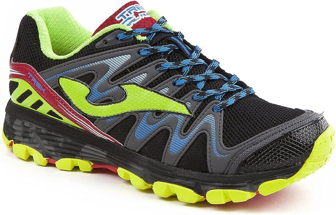 Joma Trek Zapatillas de Running para Asfalto, Hombre, Negro (Black-Fluor), 41 EU: Amazon.es: Zapatos y complementos