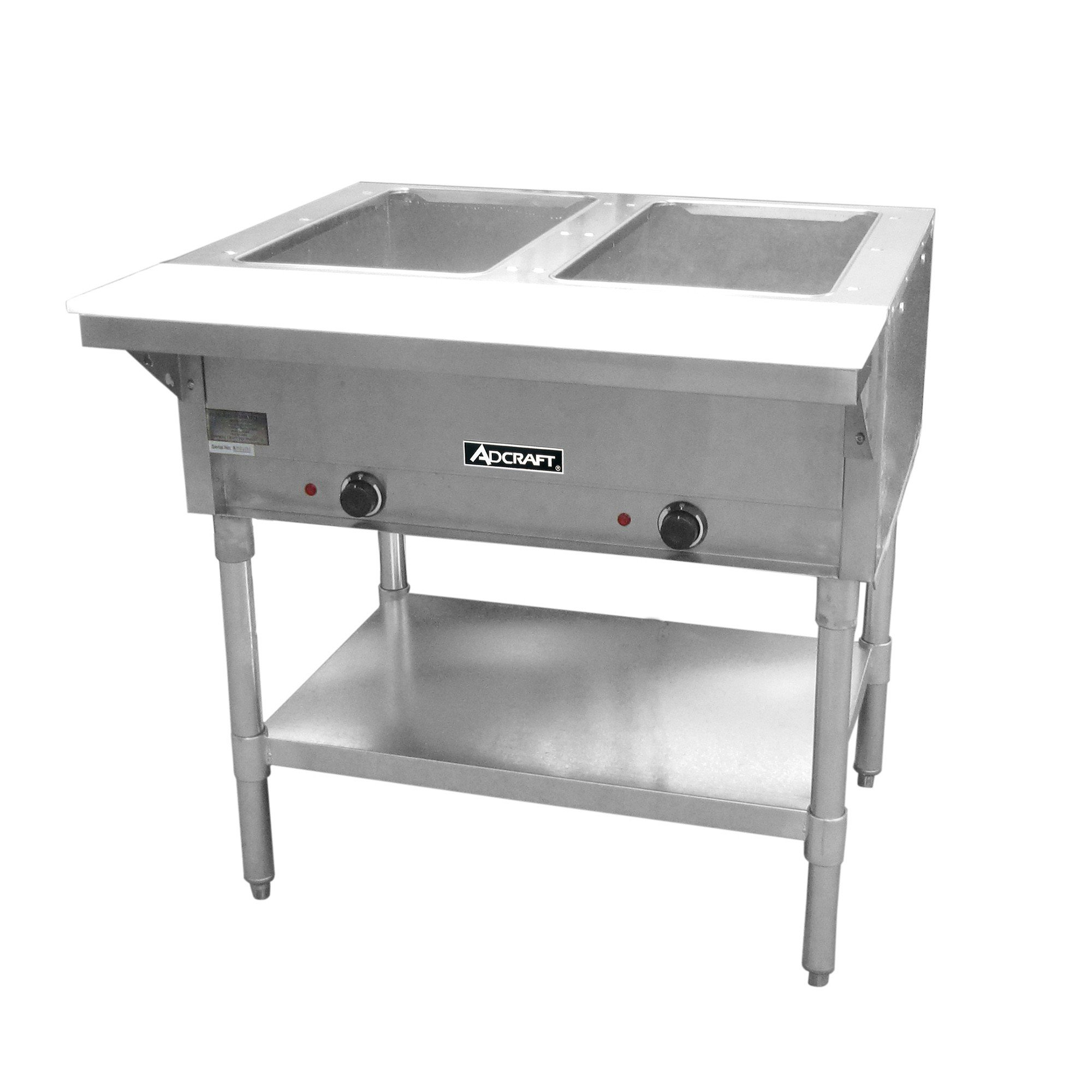 Adcraft 2 Bay Open Well Steam Table Model ST-120-2