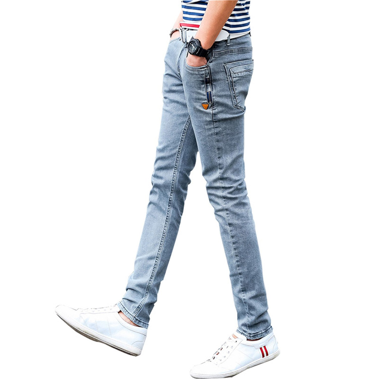 161daca9d4b Nerefy New Korean Style Men Jeans Grey Skinny Jeans Fashion Casual ...