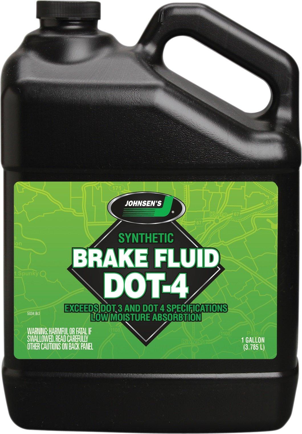 Johnsen's 5034-4PK Premium Synthetic DOT-4 Brake Fluid - 1 Gallon, (Pack of 4) by Johnsen's