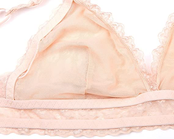 611bbba427df9 InsBuy Women s Racerback Lace Bralette For Big Breast at Amazon Women s  Clothing store