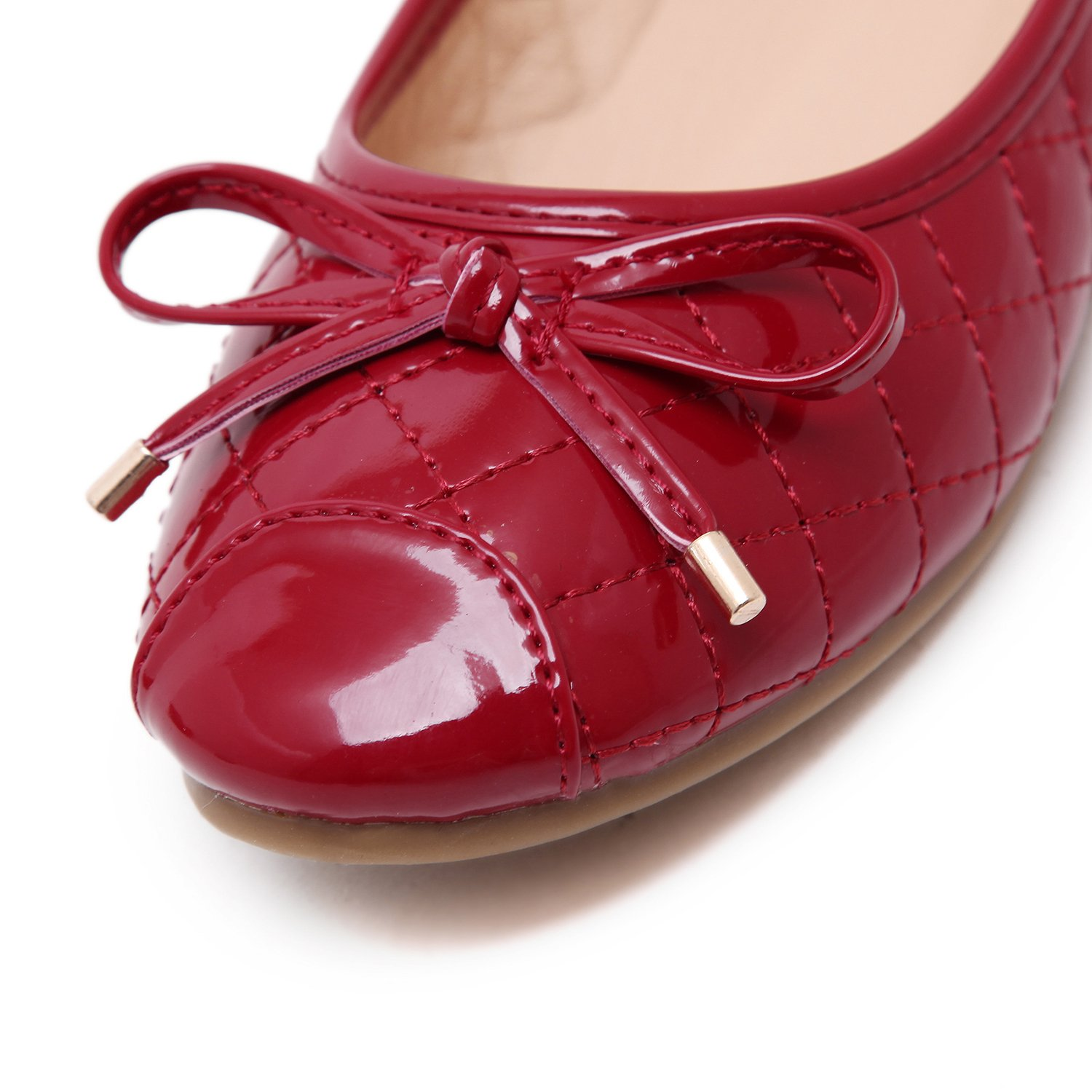 DQQ Womens Red Foldable Ballet Shoes 8.5 US