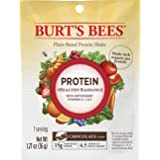 Burt's Bees Plant-Based Protein Powder, Healthy Radiance, 10 Packets, Chocolate Flavor