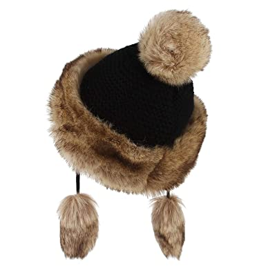 428d9c22802a00 Vintage Women Knitted Hat Faux Fur Beanies Caps Princess Cap Winter Keep  Warm Snow Hat,