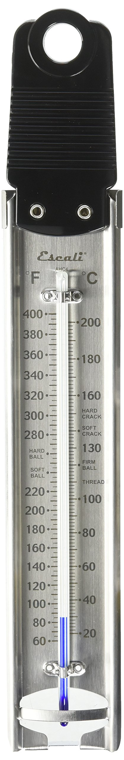 Escali AHC4 Deep Fry/Candy Thermometer, Silver