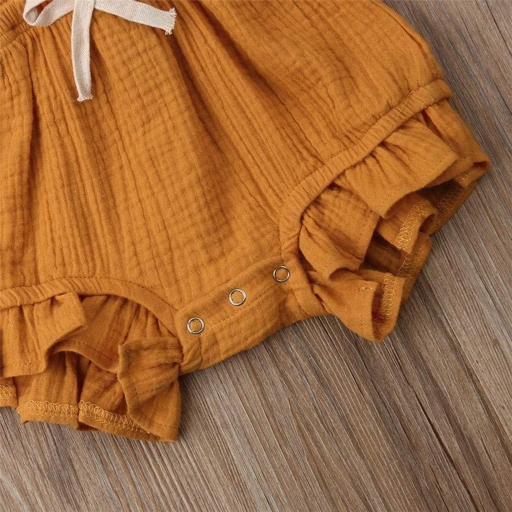 beb/és reci/én Nacidos con Volantes Mamelucos sin Mangas Mono Trajes Ropa Body Infantil para beb/és