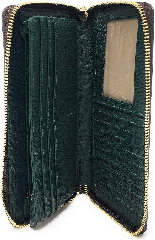 Michael Kors - Portafoglio Da Donna Jet Set Travel, 21 X 10 2 Cm Multicolore In Pvc Marrone.