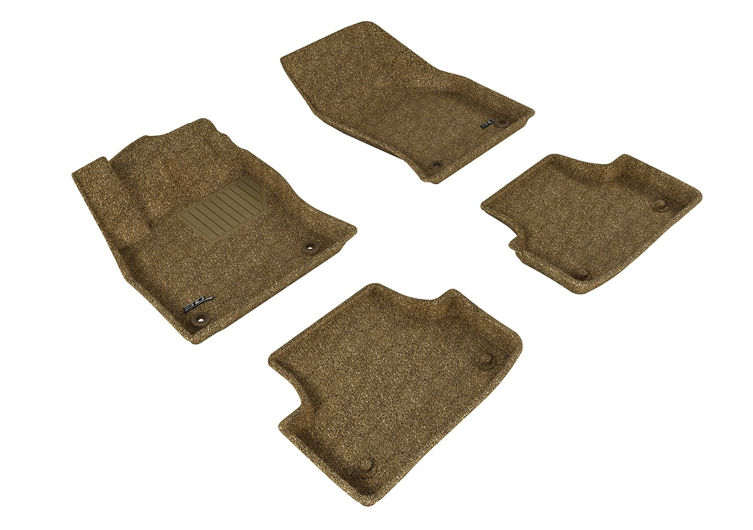 3D MAXpider Complete Set Custom Fit All-Weather Floor Mat for Select Audi A3//S3 Models Gray Classic Carpet