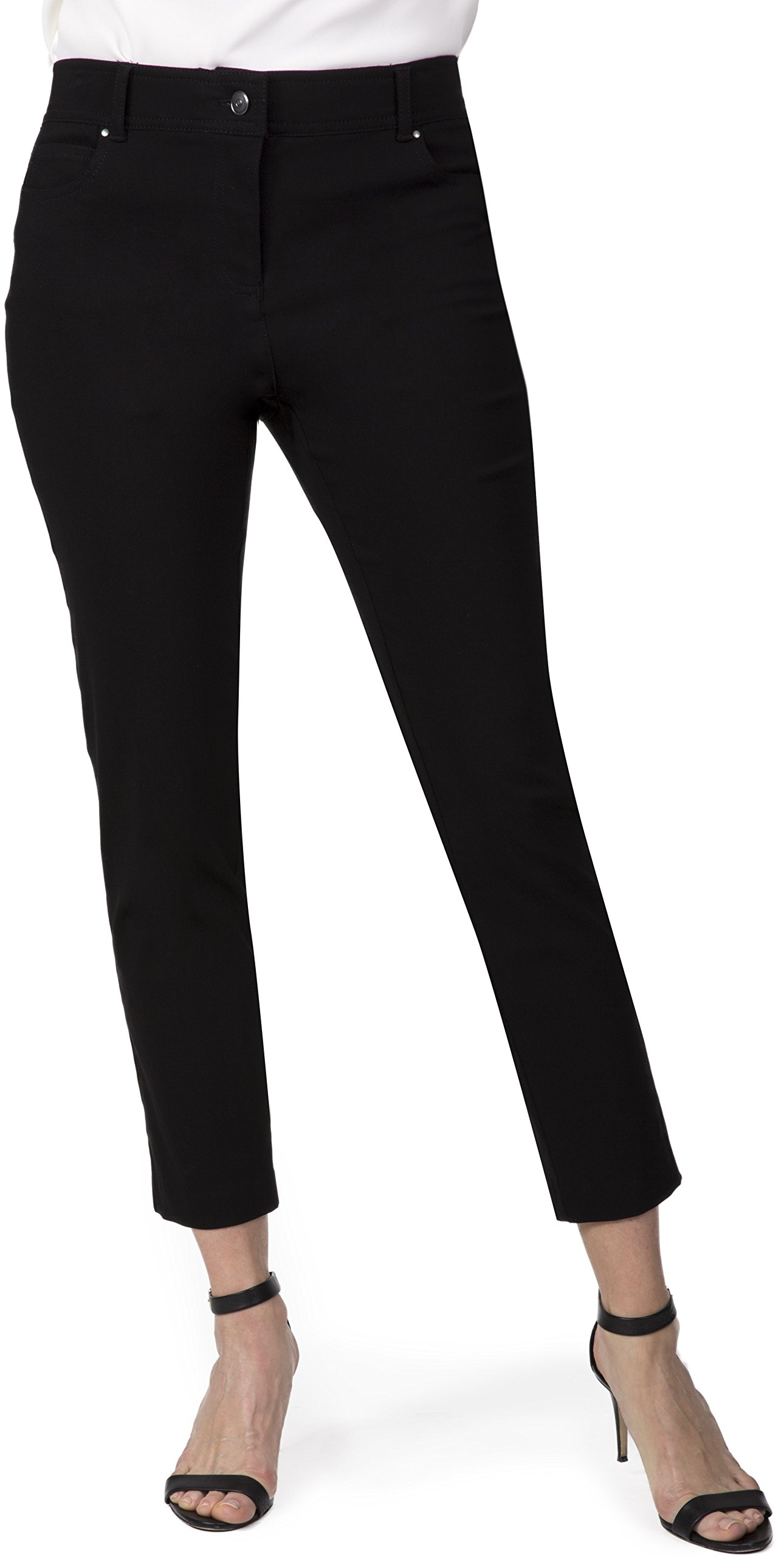 Fundamental Things Women's Comfort Waist Slim Ankle Pant, Size 10