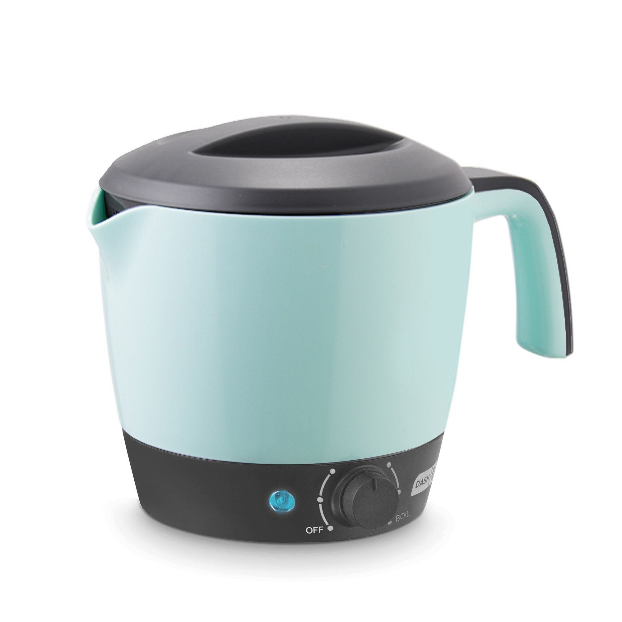 DASH DMC100AQ Express Electric Cooker Hot Pot with Temperature Control for Noodles, Rice, Pasta, Soups, Boiling Water and More, 1.2 L, Aqua