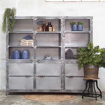 Metallschrank Küche | Maison Esto Vitrinenschrank Ingeborg Metall Industrie Schrank